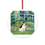 Bridge / Rat Terrier Ornament (Round)