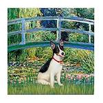 Bridge / Rat Terrier Tile Coaster