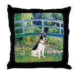 Bridge / Rat Terrier Throw Pillow