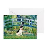 Bridge / Rat Terrier Greeting Card
