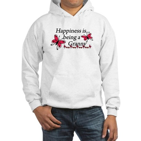 Butterfly Being A Granny Hooded Sweatshirt
