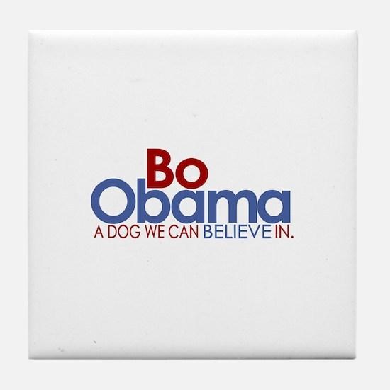 Bo Obama Believe Tile Coaster