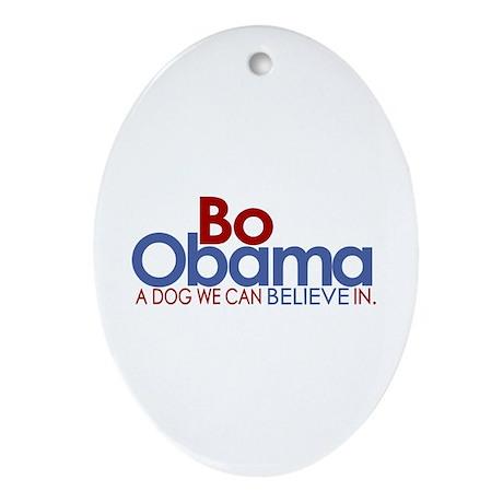 Bo Obama Believe Oval Ornament