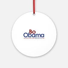 Bo Obama Believe Ornament (Round)