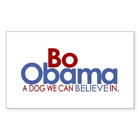 Bo Obama Believe Rectangle Sticker