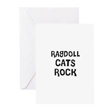 RAGDOLL  CATS ROCK Greeting Cards (Pk of 10)