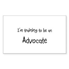 I'm Training To Be An Advocate Rectangle Decal