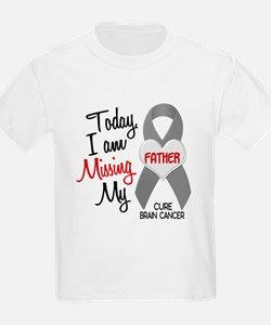 Missing 1 Father BRAIN CANCER T-Shirt