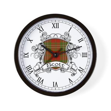 Scott Tartan Shield Wall Clock