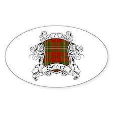Scott Tartan Shield Decal