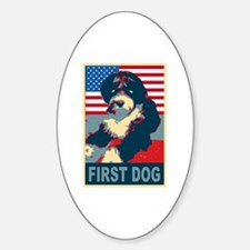 First Dog BO Obama Oval Decal