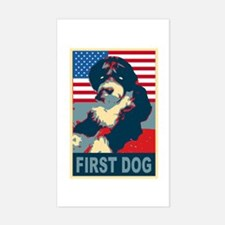 First Dog BO Obama Rectangle Decal
