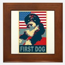 First Dog BO Obama Framed Tile