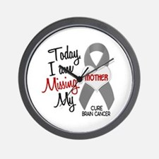 Missing 1 Mother BRAIN CANCER Wall Clock