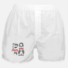 Missing 1 Mother BRAIN CANCER Boxer Shorts