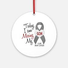 Missing 1 Son BRAIN CANCER Ornament (Round)