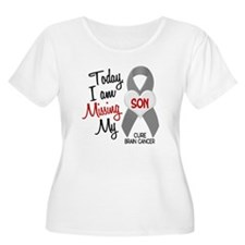 Missing 1 Son BRAIN CANCER T-Shirt