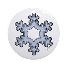 Crystal Snowflake Ornament (Round)