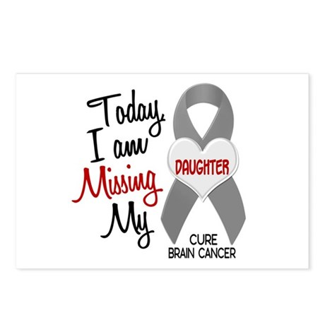 Missing 1 Daughter BRAIN CANCER Postcards (Package