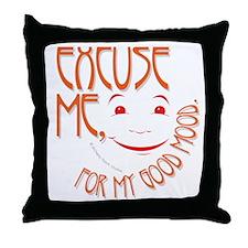 Good Mood Throw Pillow