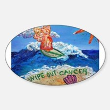 Wipe Out Cancer Angel Oval Decal
