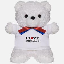 I Love Book Club Teddy Bear