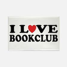 I Love Book Club Rectangle Magnet