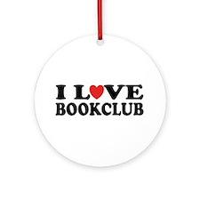 I Love Book Club Ornament (Round)
