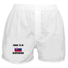 Proud To Be SLOVAKIAN Boxer Shorts