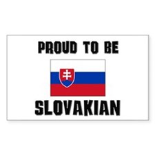 Proud To Be SLOVAKIAN Rectangle Decal