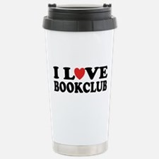 I Love Book Club Stainless Steel Travel Mug