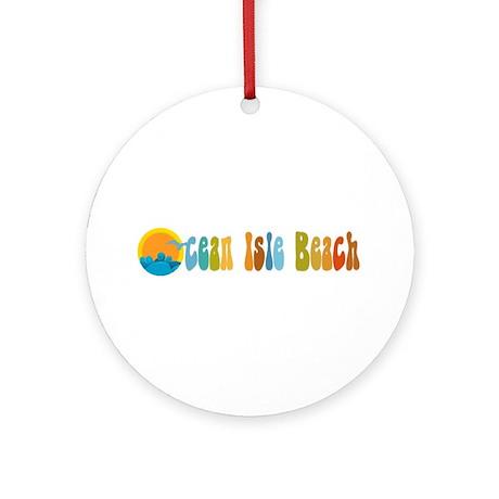 Ocean Isle Beach NC Ornament (Round)