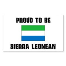 Proud To Be SIERRA LEONEAN Rectangle Decal