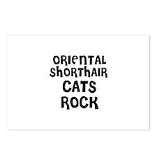 ORIENTAL SHORTHAIR CATS ROCK Postcards (Package of