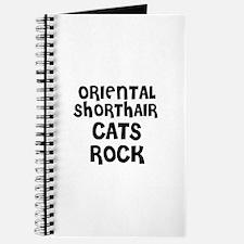 ORIENTAL SHORTHAIR CATS ROCK Journal