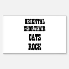 ORIENTAL SHORTHAIR CATS ROCK Rectangle Decal