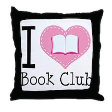 I Heart Book Club Throw Pillow