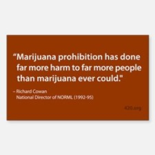 Marijuana Prohibition Rectangle Decal