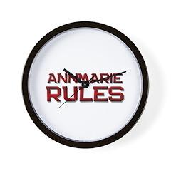 annmarie rules Wall Clock