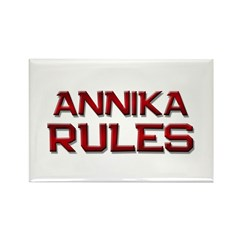 annika rules Rectangle Magnet
