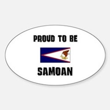 Proud To Be SAMOAN Oval Decal