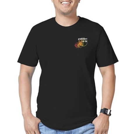 Grandfathers Are Hot Men's Fitted T-Shirt (dark)