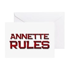 annette rules Greeting Card