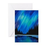 Aurora borealis Greeting Cards (10 Pack)