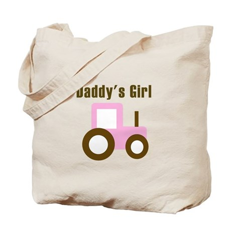 Daddy's Girl - Pink Tractor Tote Bag