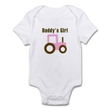 Daddy's Girl - Pink Tractor Infant Bodysuit