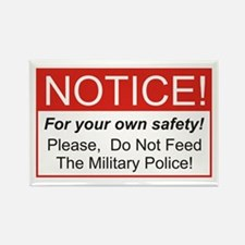 Notice / Military Police Rectangle Magnet