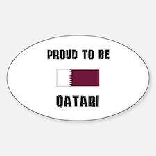 Proud To Be QATARI Oval Decal
