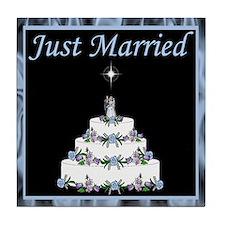 Wedding Cake Invitation Set Tile Coaster