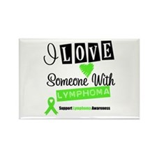 ILoveSomeoneWLymphoma Rectangle Magnet